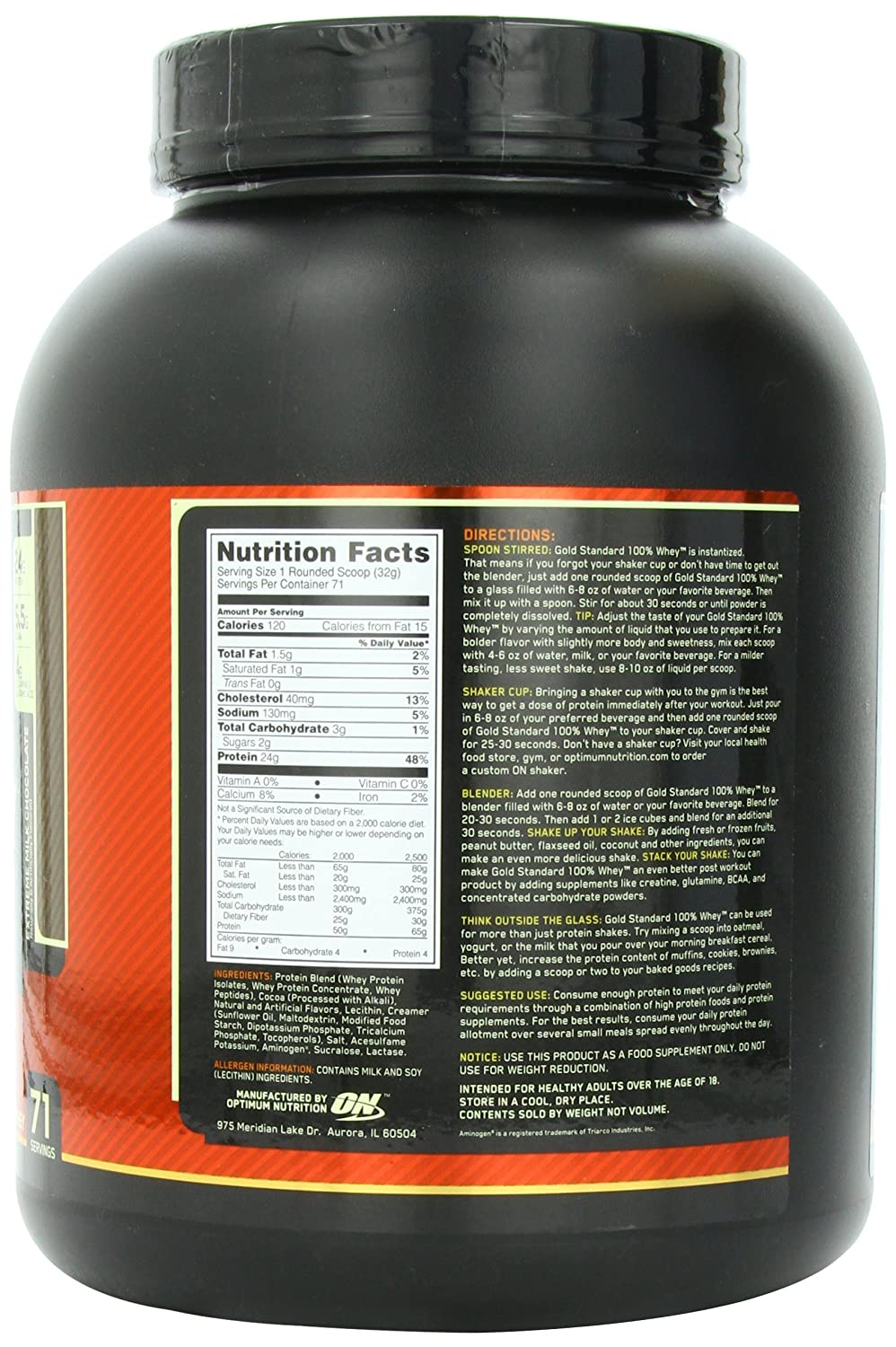 ON Whey Gold Standard - 5 lb Extreme Milk Chocolate