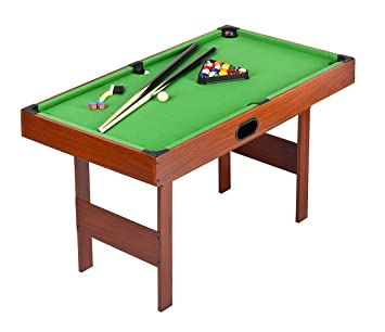 Table de billard - jeu billes de snooker et billes billard inclus *Table de snooker/billard avec billes - deux ensembles (billard / snooker) - vert - 122 cm + gratuit
