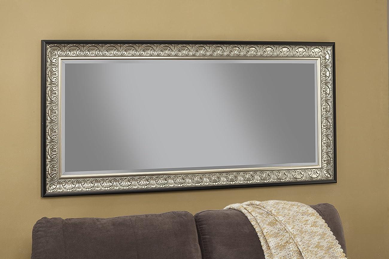 Sandberg Furniture 16011 Full Length Leaner Mirror Frame, Antique Silver/Black 3