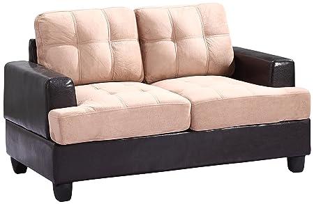 Glory Furniture G588A-L Living Room Love Seat, Mocha
