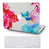 LuvCase 2 in 1 Rubberized Hard Shell Case with Keyboard Cover Compatible MacBook Air 13 Inch 2019/2018 New Version A1932 Retina (Touch ID) (Oil Paint) (Color: Oil Paint with Keyboard Cover, Tamaño: A1932 New Air 13
