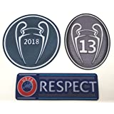Real Madrid FC Soccer Patch Set 2018-2019 La Tredecima Jersey Badges Football Shirt Patches Champions League Trophy 13 Cup Honor