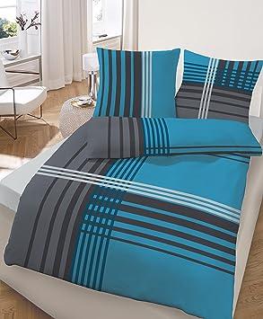 feinbiber marken bettw sche 135x200 cm b ware mit kleinen sch nheitsfehlern farbe petrol. Black Bedroom Furniture Sets. Home Design Ideas
