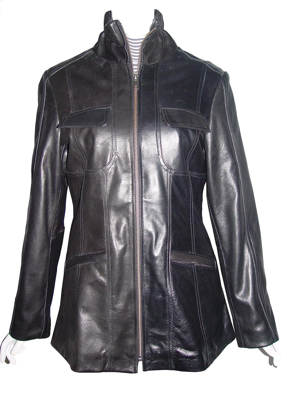 Nettailor WoHerren 4194 weich Leder l?ssig JackeChina Kragen Klappe Brust Tasche online bestellen