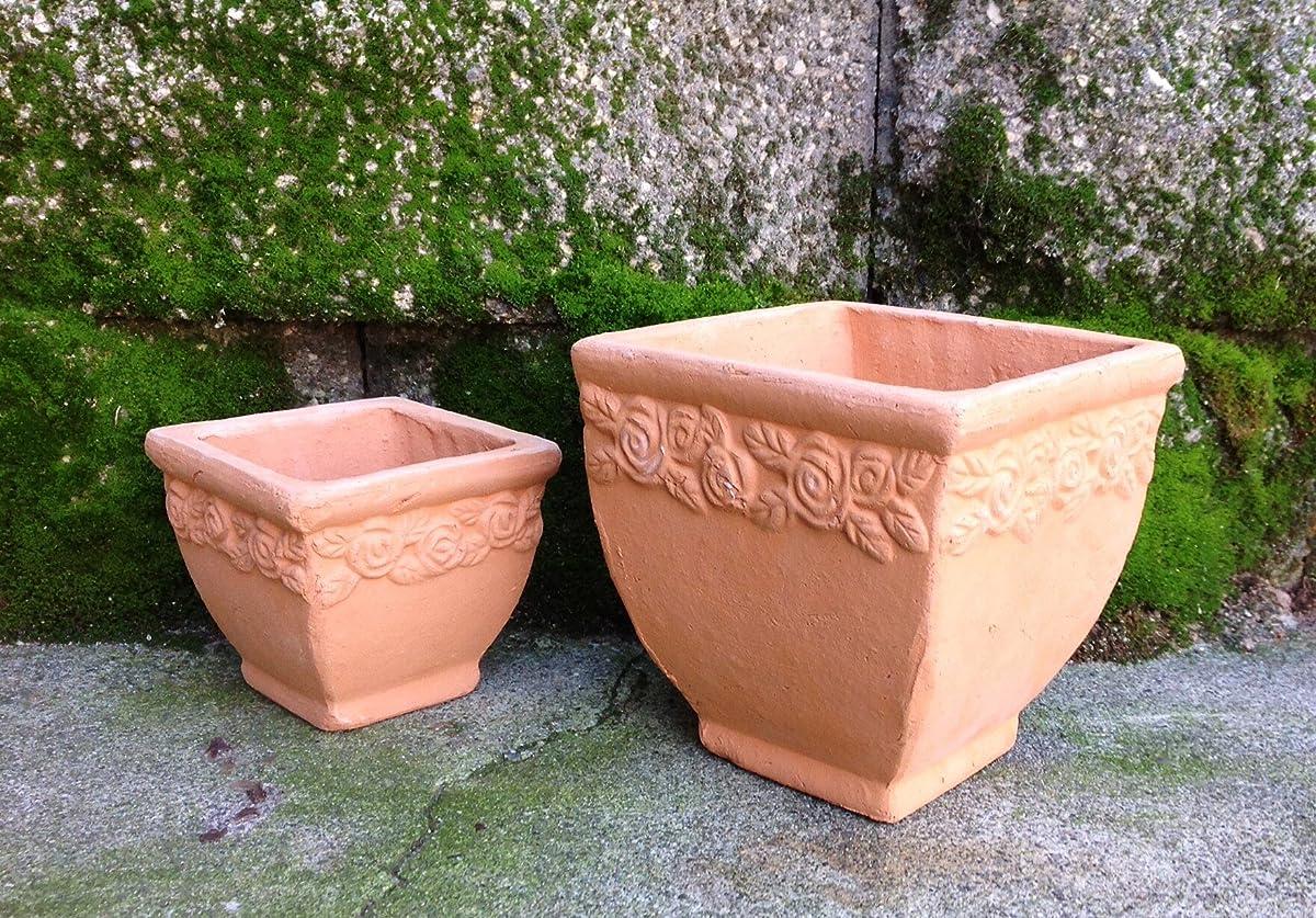 Terracotta Square Flower Pot