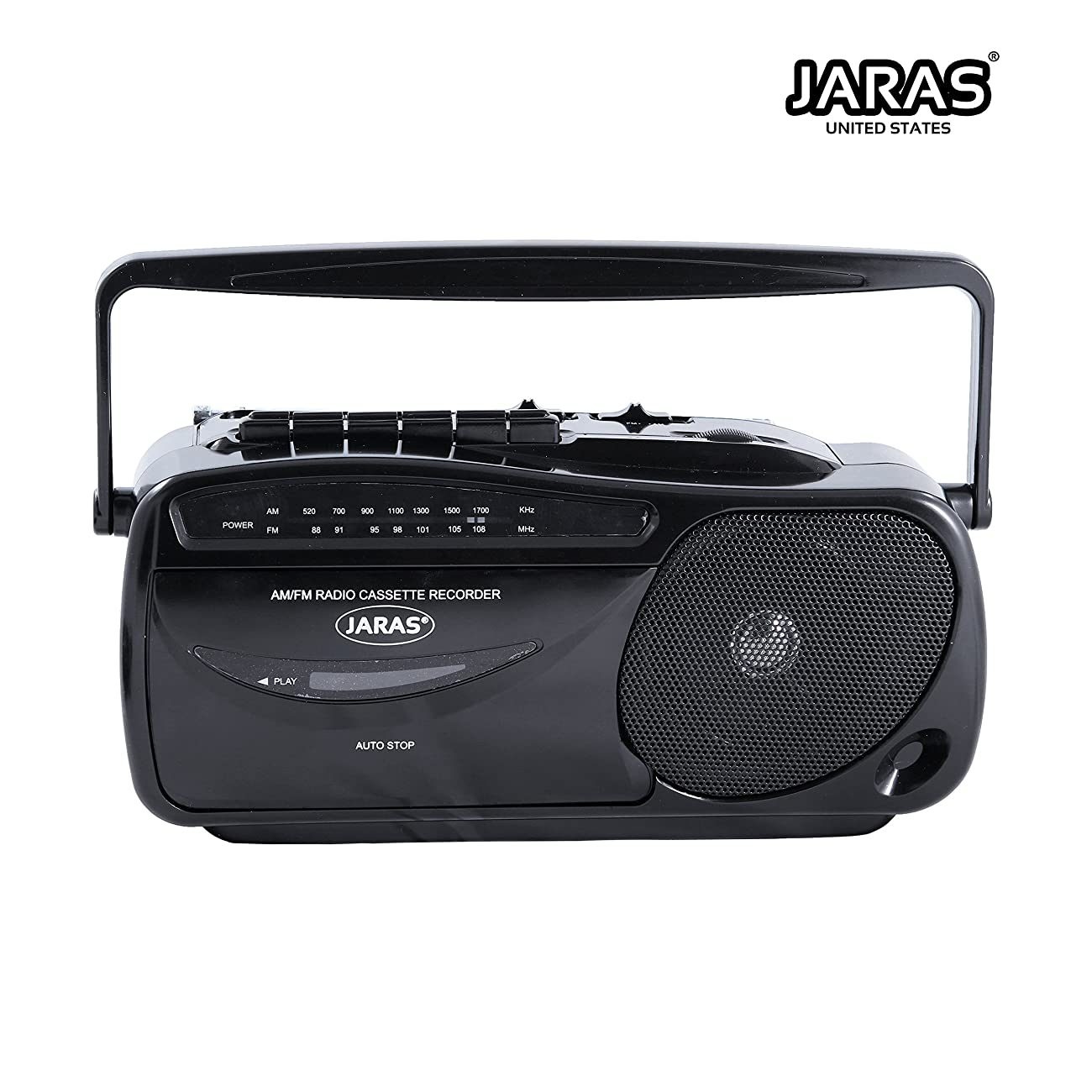 Jaras JJ-2618 Limited Edition Portable Boombox Tape Cassette Player/recorder with AM/FM Radio Stereo Speakers & Headphone Jack 0