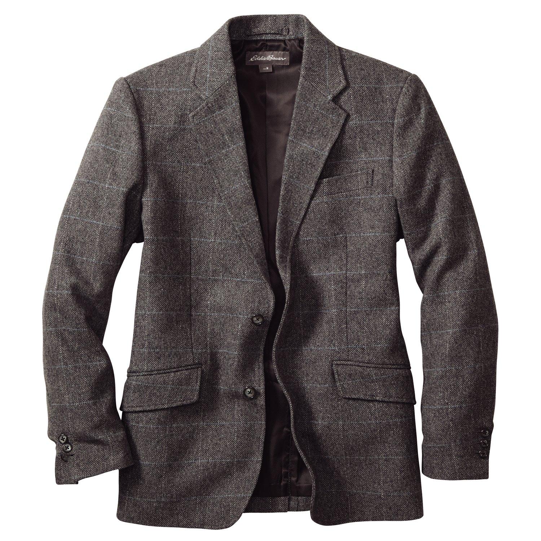 Amazon.co.jp: (エディー・バウアー) Eddie Bauer ウールツイード2ボタンブレザー: 服&ファッション小物通販
