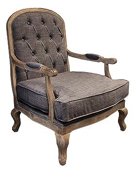 Gallery Direct Esta Button Back Chair, 31.5 x 31.5 x 41.5-inch, Dove Grey