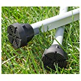 SureTip Black Crutch Tips & Cane Tip for Crutches (Pair of 2) - Extreme Grip - Heavy Duty Universal Sizing Fits Shafts of 5/8