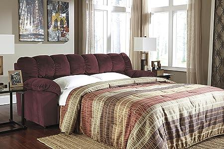 Julson Contemporary Red Padded Microfiber Full Sofa Sleeper