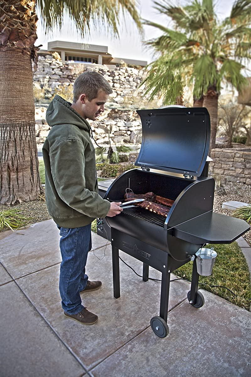 Camp Chef PG24DLX Deluxe Pellet Grill and Smoker BBQ with Digital Controls and Stainless Temp Probe