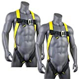 KwikSafety (Charlotte, NC) 2 PACK TORNADO 1D Fall Protection Full Body Safety Harness | OSHA ANSI Industrial Roofing Personal Protection Equipment | Construction Carpenter Scaffolding Contractor (Color: Harness + Harness, Tamaño: 2 Pack (save $5))