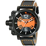 Haurex Italy Men's 6N508UON Gun Analog Display Quartz Black Watch