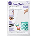 Wilton White Sugar Sheets Edible Decorating Paper, 3-Count