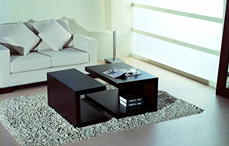 BH Design 2-Piece Jengo Coffee Table, Wenge