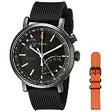 Timex Unisex TWG012600 Metropolitan+ Activity Tracker Smart Watch Gift Set with Black Silicone and Orange Nylon Straps (Color: Black + Orange Strap)