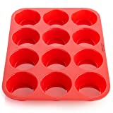 OvenArt Bakeware Silicone 12 Cup Muffin Pan: BPA-free, Non Stick