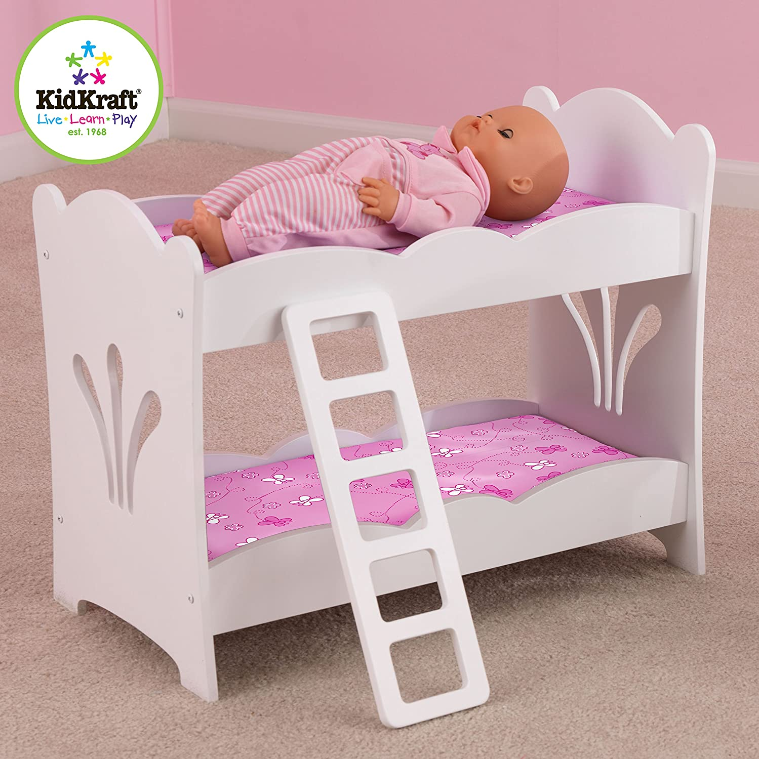 The seasoning products sale wooden doll bunk bed for 18 for Lit kidkraft