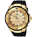 Technomarine Women's 'Manta' Automatic Gold-Tone and Silicone Casual Watch, Color:Black (Model: TM-215084)