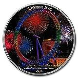 2018 DE Ivory Coast 2 oz Silver Magnificent Landmarks London Eye Silver Brilliant Uncirculated