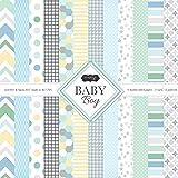 Scrapbook Customs Themed Paper Scrapbook Kit, Baby Boy (Tamaño: 1 Pack)