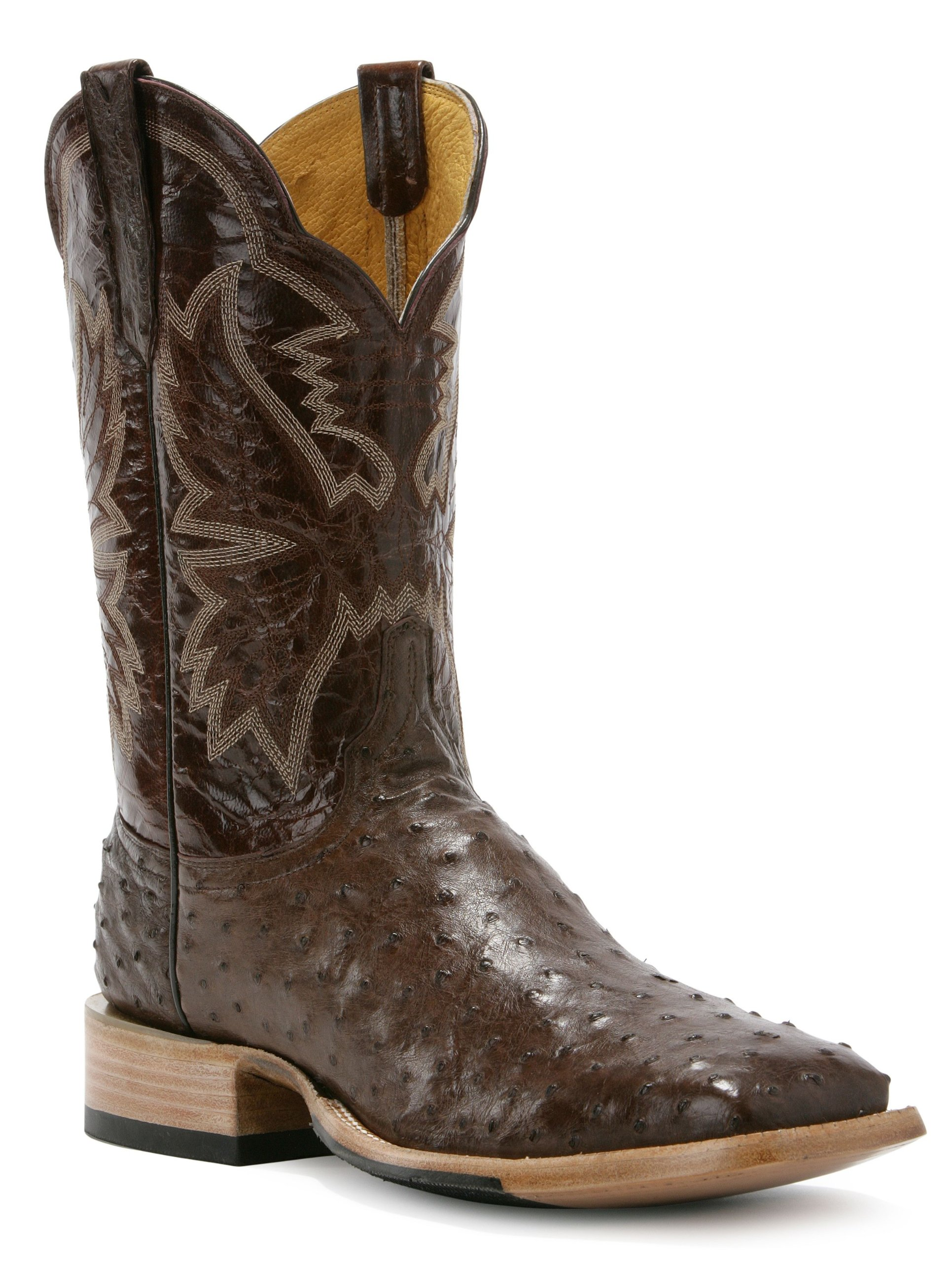 Cinch Women's Classic Western Full Quill Ostrich Cowgirl Boot Square Toe