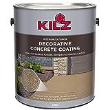 KILZ L378601 Interior/Exterior Slip-Resistant Decorative Concrete Paint, 1 Gallon, Tan (Color: Tan, Tamaño: 1 Gallon)