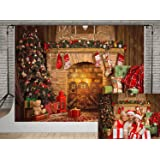 Kate 10x6.5ft Christmas Tree Backdrops for Photography Brick Fireplace Background Photo Red Socks Ligthing Backdrop Photobooth (Color: 4696, Tamaño: 10x6.5ft)