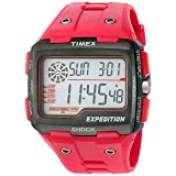 Timex Men's TW4B03900 Expedition Grid Shock Red Resin Strap Watch (Color: Red, Tamaño: Mens Standard)