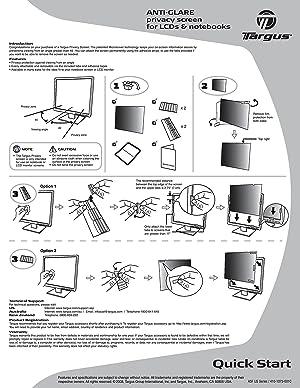 Targus 4Vu Privacy Filter Screen for 20.1-Inch Widescreen (16:10 Ratio) LCD Monitors (ASF201WUSZ) (Color: Transparent, Tamaño: 20.1 Widescreen (16:10 Ratio))