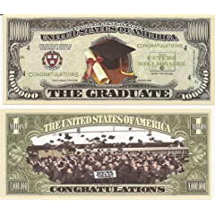 Graduation $Million Dollar$ Novelty Collectible Bill