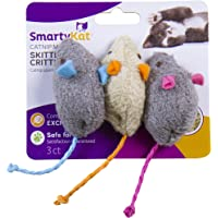 3-Pack SmartyKat Skitter Critters Catnip Mice Toys