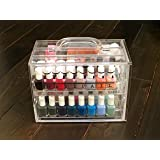 Nail Polish Organizer by Nail Pail for 32 polishes & accessories (polish & accessories not included)