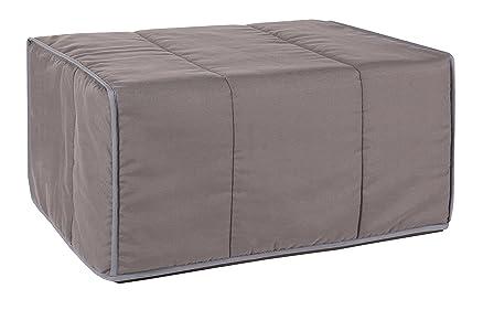 Quality Mobles–Letto singolo, mod. Patrick, pieghevole, dimensione: 80 cmx 180cm 63x83x46 cm grigio