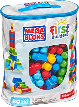 Mega Bloks Big Building Bag 80-Piece Building Set