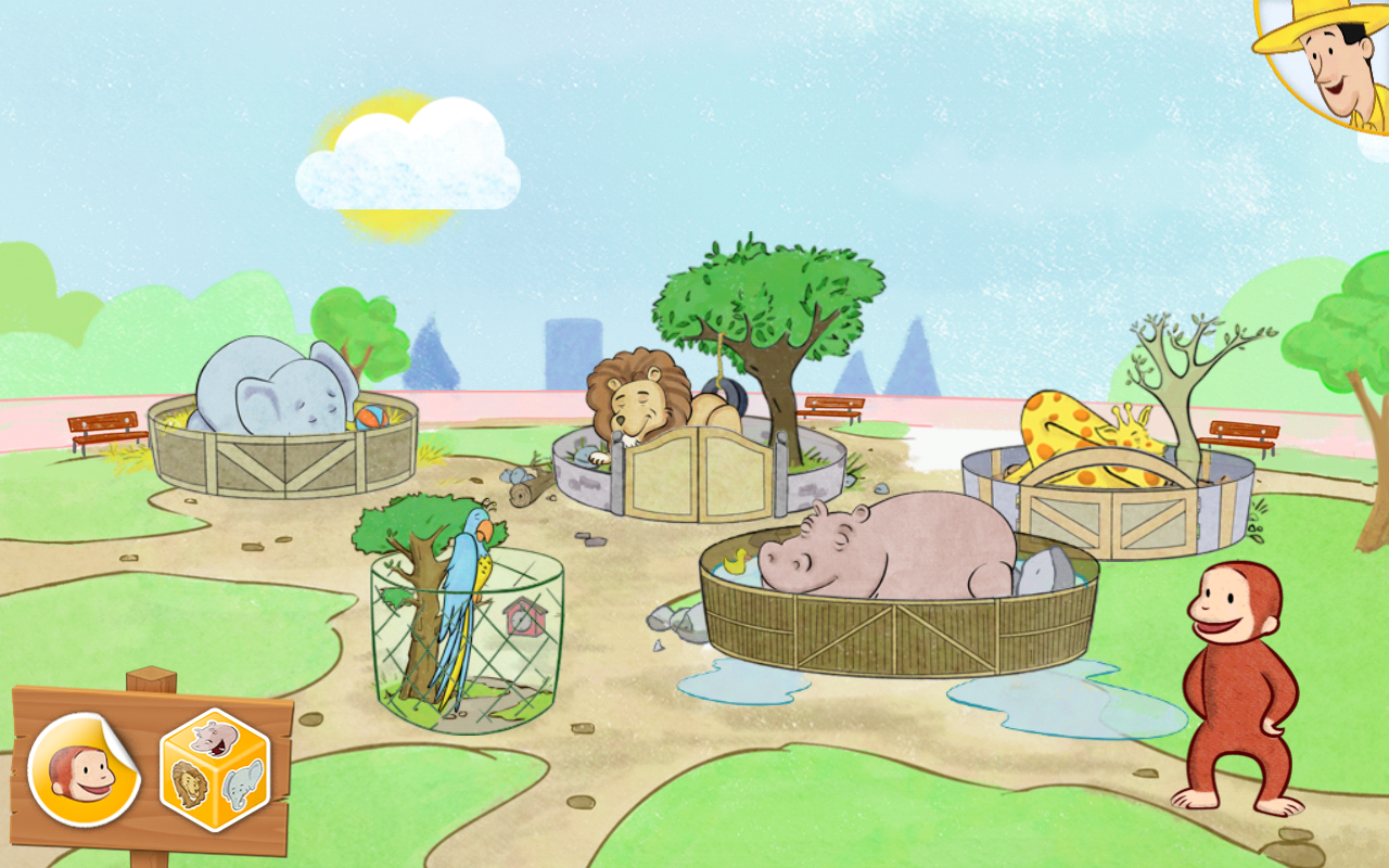 Amazon.com: Curious George at the Zoo, Sunny Safari: Appstore for