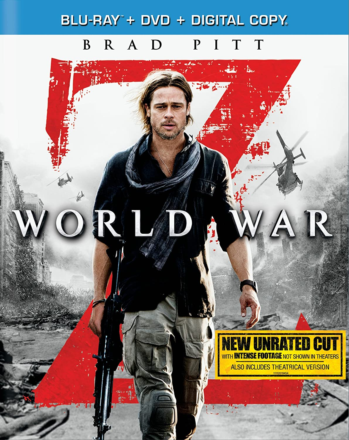 World War Z (Blu-ray + DVD + Digital Copy) $7.99
