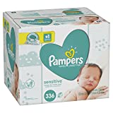 Pampers Baby Wipes Sensitive 6X Pop-Top Packs, 336 Count (Color: White, Tamaño: 336 Count)