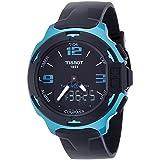 Tissot T-Race Touch Aluminium Black Dial Black Silicon Strap Mens Sports Quartz Watch T0814209705704 (Color: Black)