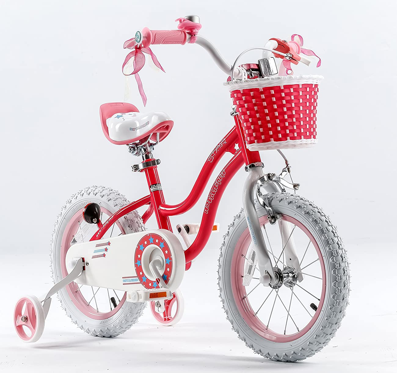 RoyalBaby Stargirl Girl's Bike with Training Wheels and Basket, Perfect Gift for Kids. 12 Inch, 14 Inch, 16 Inch, Blue / Pink 1
