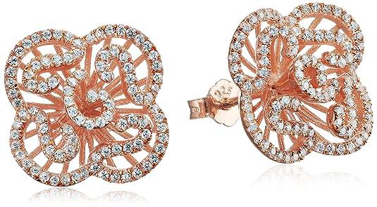Fei Liu Clear Cubic Zirconia Cascade Mini Sterling Silver Earrings