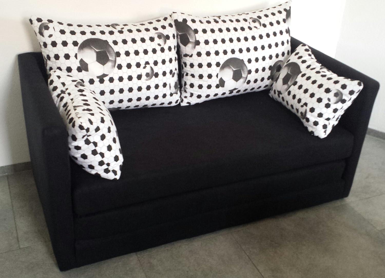 Schlafsofa 2-sitzer Fussball Look nur 130 cm breit online kaufen