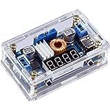 Yeeco DC DC Buck Voltage Regulator Power Converter Supply Constant Voltage & Current Volt & Amp Converters Adjustable 7-36V to 1.25-32V Step Down 5A 75W LED Driver LED Voltmeter Display USB Output (Tamaño: 7-36V to 1.25-32V (Blue LED))