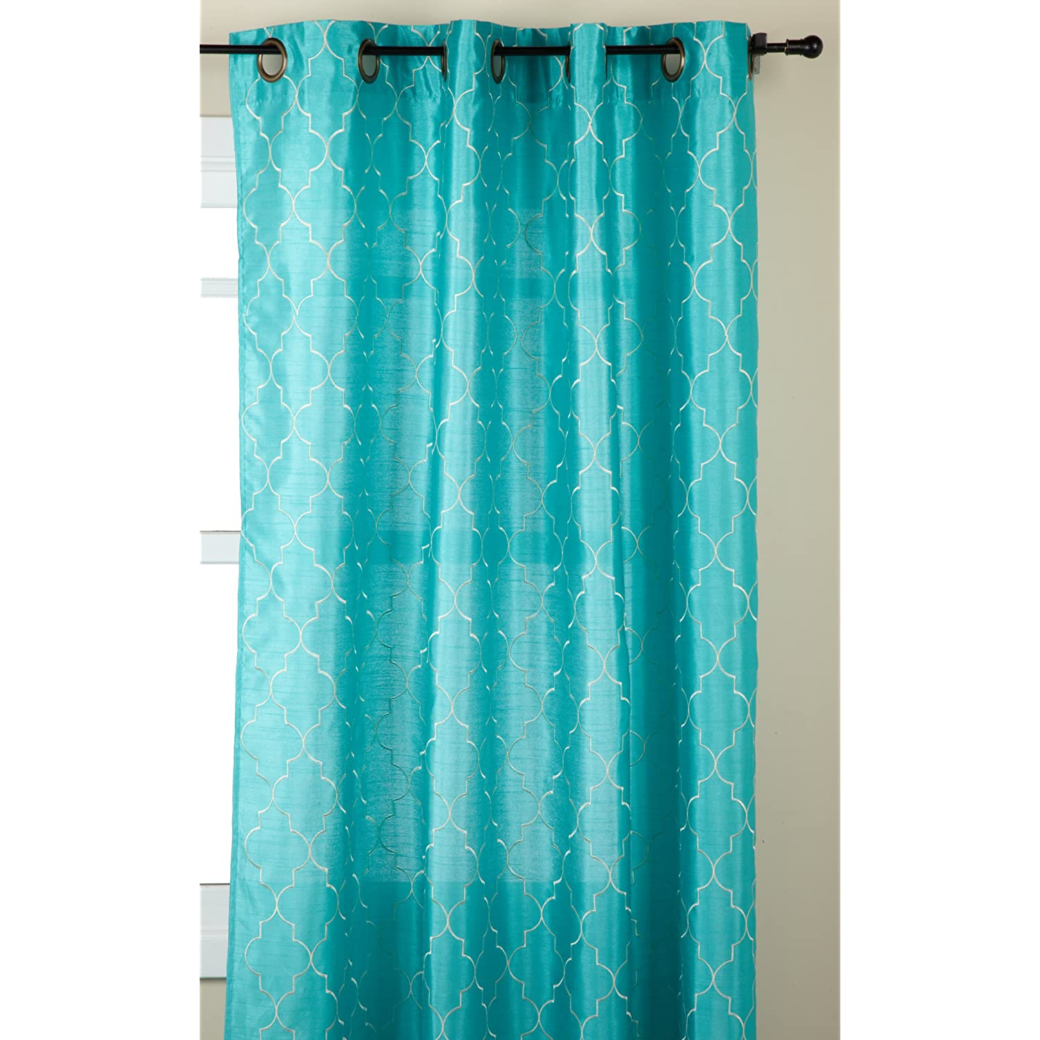 Turquoise curtains... | homey type stuffs | Pinterest