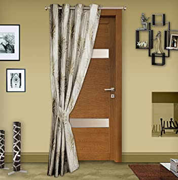 Buy Story@Home Premium Jacquard Berry Door Curtain - 48