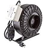 "Apollo Horticulture 4"" Inch 190 CFM Inline Duct Fan with Built In Variable Speed Controller"