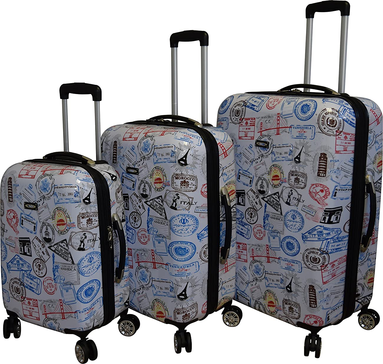 Kemyer 788 Vintage World Series Lightweight 3-PC Expandable Hardside Spinner Luggage Set 1