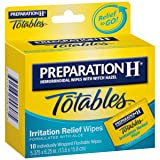 Preparation H Flushable Medicated Hemorrhoid Wipes;  Irritation Relief Wipes To Go with Aloe (10 Count)