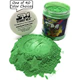 Green Pigment Powder for Resin Fluid Art, Color Stable Colors for Soap Making Projects, Nail Dipping Powder, Green Metallic Mica Pigment Powder Stardust Micas Grassy Green (Grassy Green, 72 Gram Jar) (Color: Grassy Green, Tamaño: 72 Gram Jar)