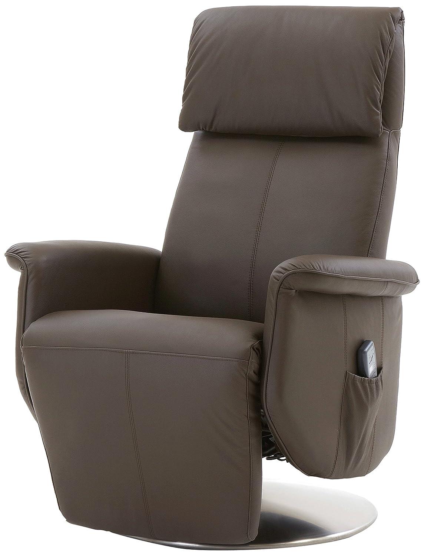 Mein Sessel SL-850 Relax und Ruhesessel in Rindslede mit motorischer Verstellung und Aufstehhilfe Funktion, mocca braun